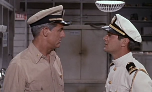 Tony Curtis and Cary Grant in Operation Petticoat (1959)