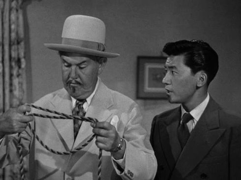 Sidney Toler as Charlie Chan and Victor Sen Yung as Son Number Two in The Trap