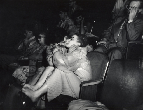 Lovers with 3-D glasses at the Palace Theatre (Infra-red), 1943.